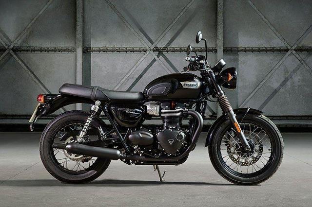 Motorrad kaufen TRIUMPH Bonneville T120 1200 Black ABS Neufahrzeug Occasion