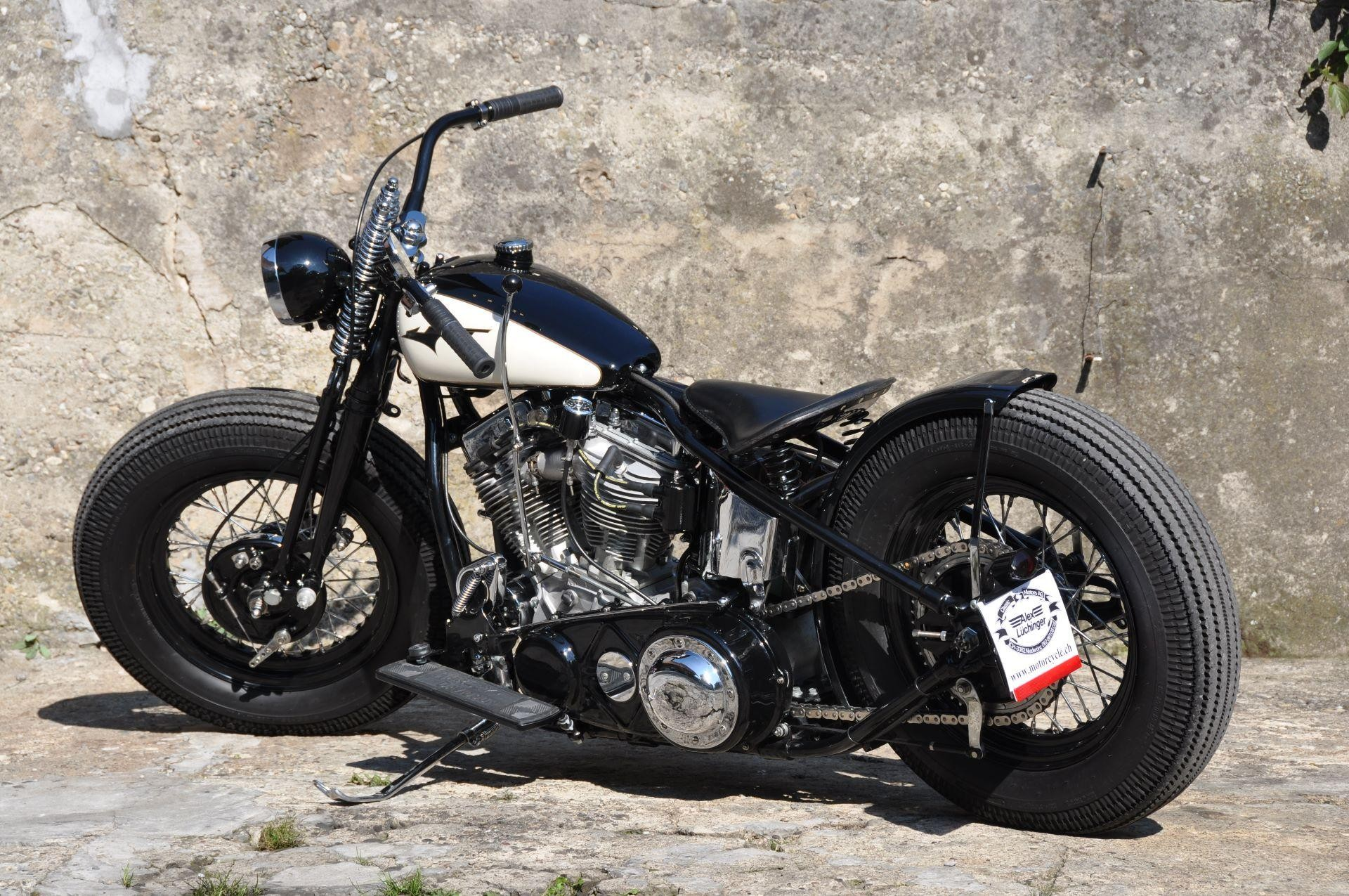 moto oldtimer acheter harley davidson panhead bobber. Black Bedroom Furniture Sets. Home Design Ideas