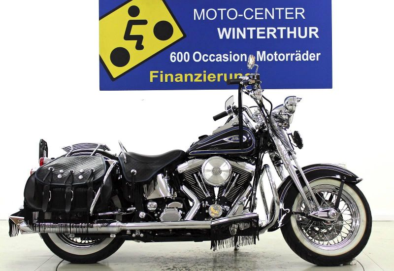 moto occasions acheter harley davidson flsts 1340 softail heritage springer moto center. Black Bedroom Furniture Sets. Home Design Ideas