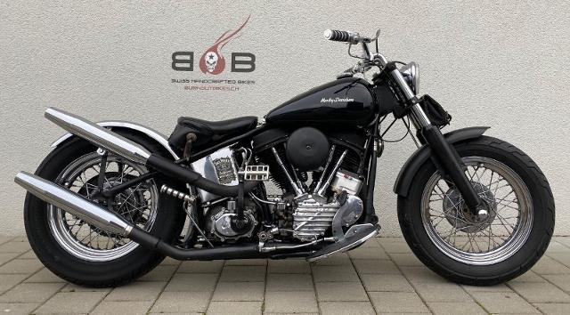 Motorrad kaufen HARLEY-DAVIDSON FL PANHEAD BOBBER Oldtimer