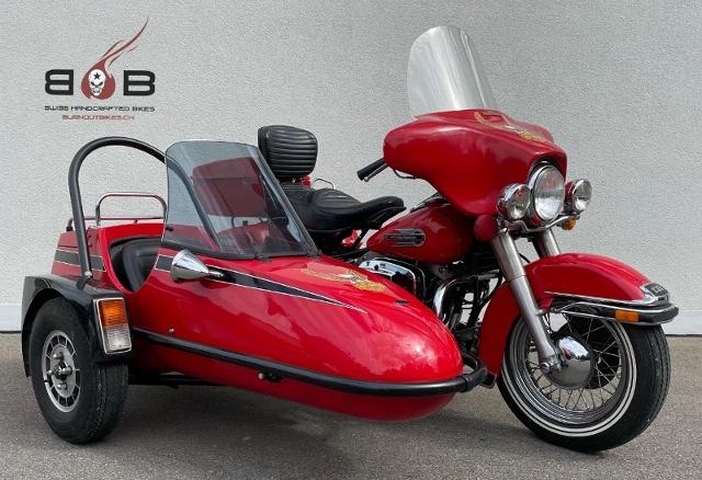 Motorrad kaufen HARLEY-DAVIDSON Electra Glide Shovelhead Sidecar VETERANENFAHRZEUG Oldtimer