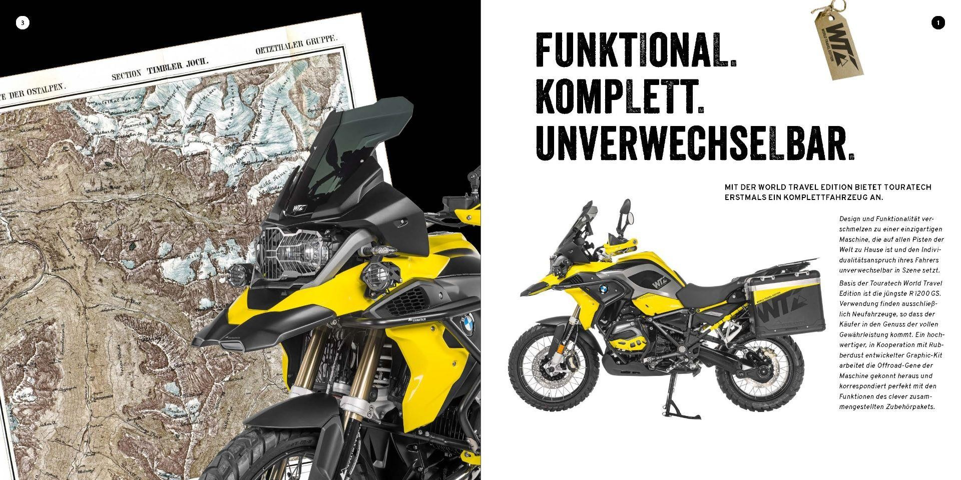BMW GS 1200 R Touratech World Travel Edition Adventure in