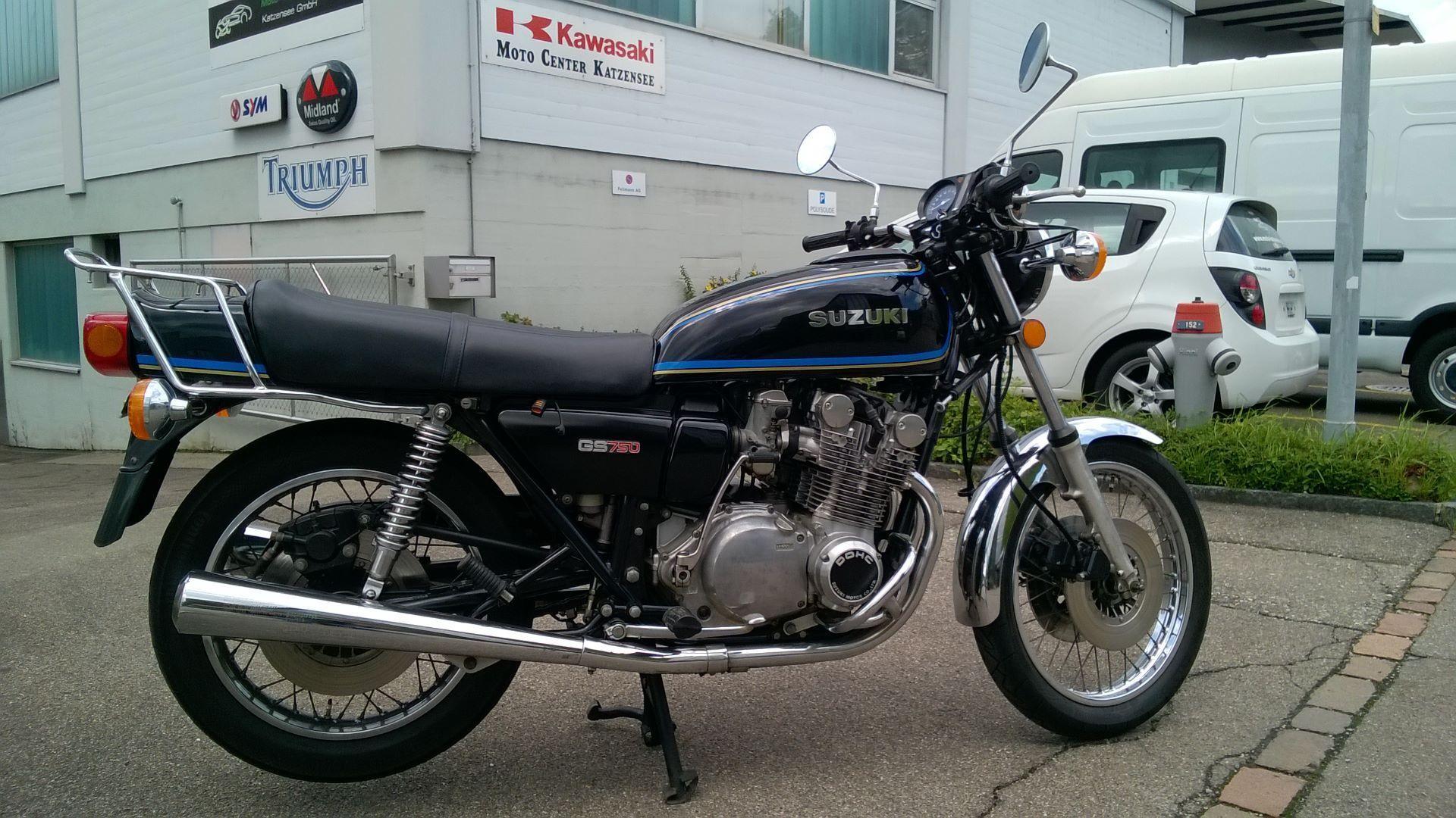 motorrad oldtimer kaufen suzuki gs 750 moto und oldtimer. Black Bedroom Furniture Sets. Home Design Ideas