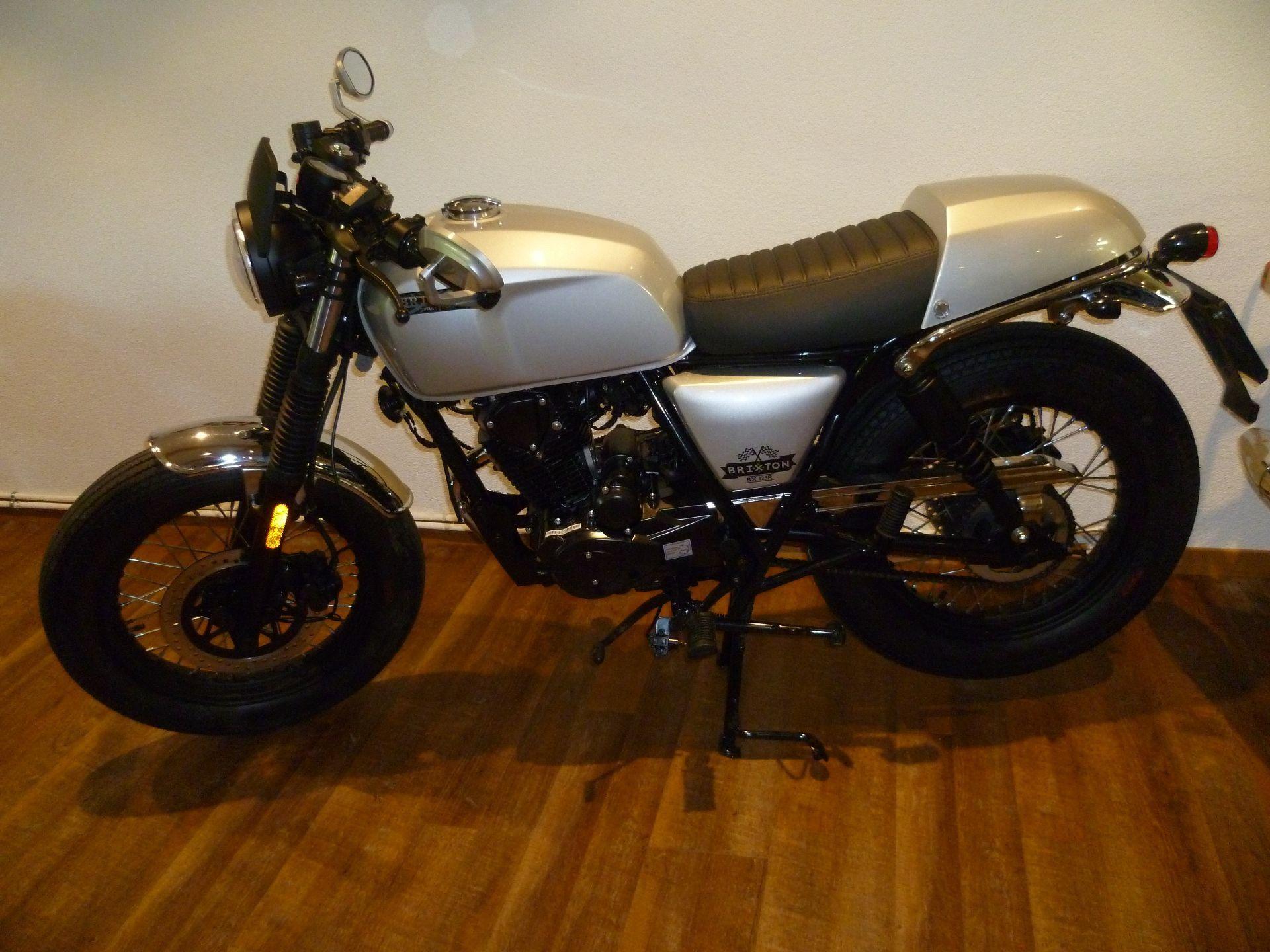 buy motorbike new vehicle bike brixton bx 125 r cafe racer 2 rad center boller forch. Black Bedroom Furniture Sets. Home Design Ideas
