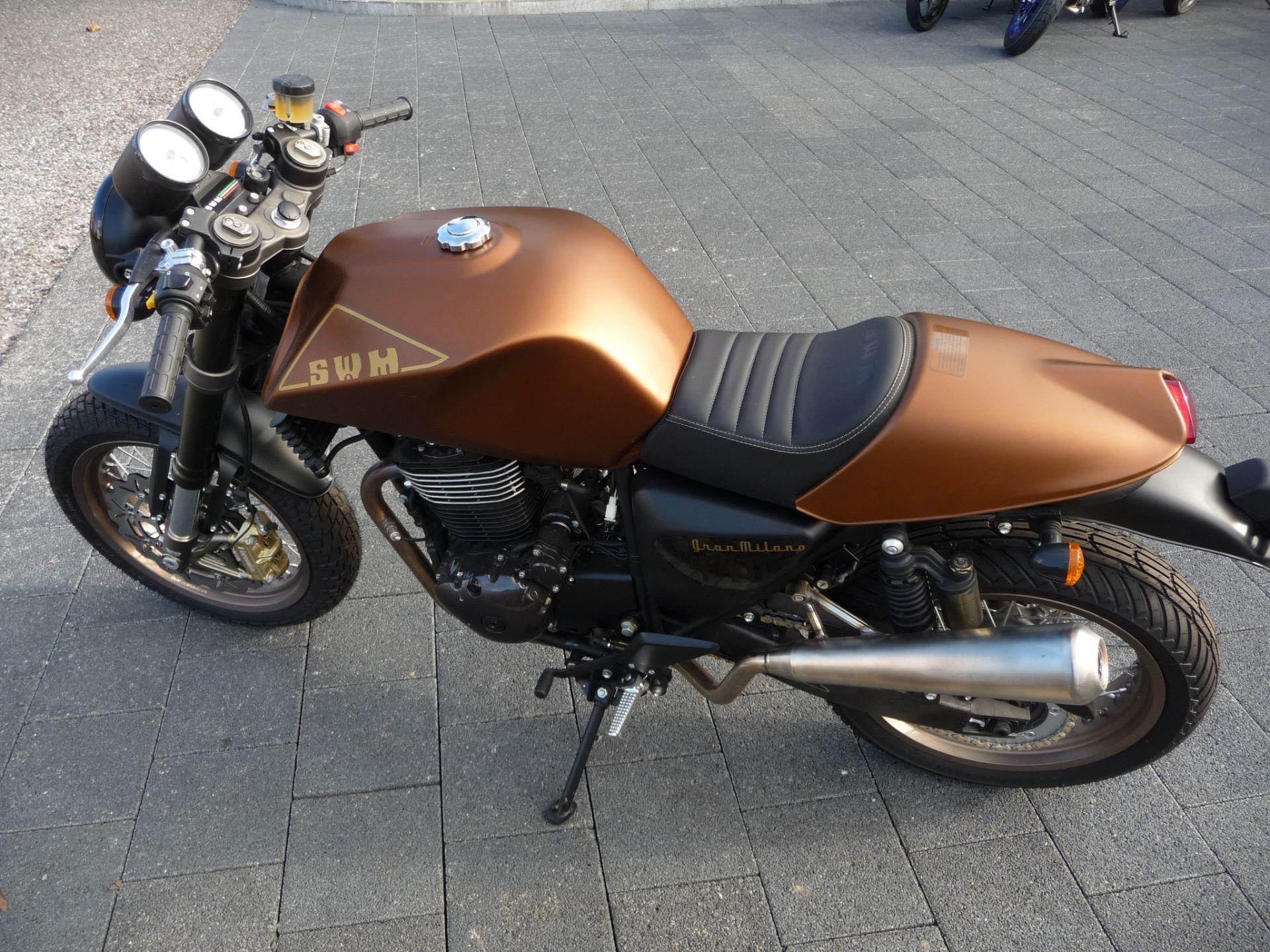 motorrad neufahrzeug kaufen swm gran milano 440 cafe racer moto kaufmann lyss lyss. Black Bedroom Furniture Sets. Home Design Ideas