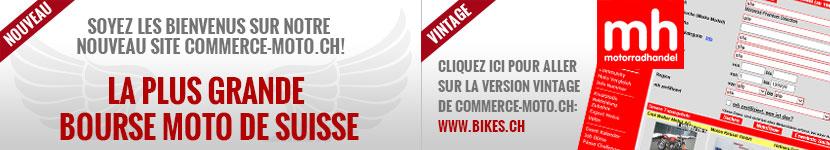 Soyez les bienvenus sur notre nouveau site commerce-moto.ch!