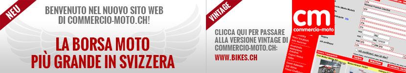 Benvenuto nel nuovo sito web di commercio-moto.ch!